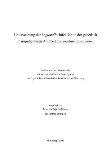 Untersuchung der Legionella-Infektion in der genetisch - OPUS ...