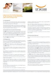 AGBs Apartment-Anmietung - Orange Hotel
