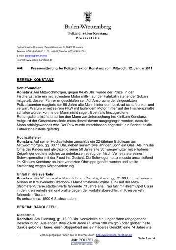 Polizeidirektion Konstanz BEREICH KONSTANZ Schlafwandler ...