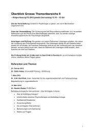 Überblick Grosse Themenbereiche II - Unifr Web Access