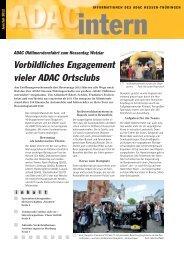 Vorbildliches Engagement vieler ADAC Ortsclubs