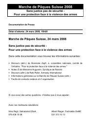 Pressemappe französisch (pdf, 99 KB) - Ostermarsch Bern