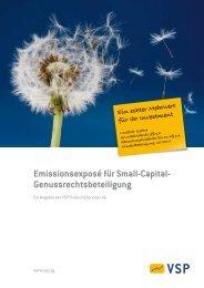Emissionsexposé für Small-Capital - Fondsvermittlung24.de