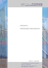 Infrastruktur International I - Fondsvermittlung24.de