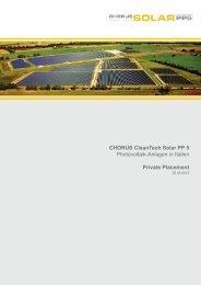 CHORUS CleanTech Solar PP 5 - Fondsvermittlung24.de