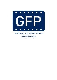 Zweite Medienfonds German Filmproductions GFP GmbH & Co ...