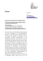 Presseinformation Spielplan 2010 - Petermännchen Theater ...