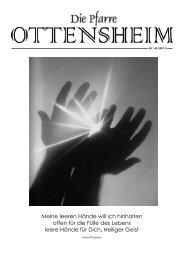 Meine leeren Hände will ich hinhalten offen für ... - Pfarre Ottensheim