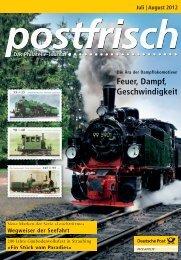Juli   August 2012 - Deutsche Post - Philatelie