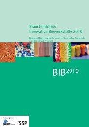 Branchenführer Innovative Biowerkstoffe (BIB 2010) - Plasticker