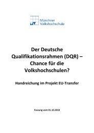 Handreichung zum Prozess EQR/DQR