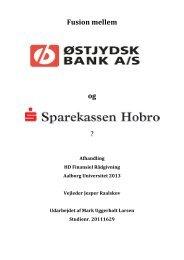 Opgave Fusion mellem Østjydsk Bank og Sparekassen Hobro
