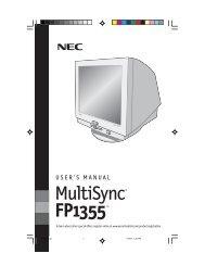 MultiSync FP1355