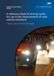 A reference book of driving cycles for use in the measurement of ...