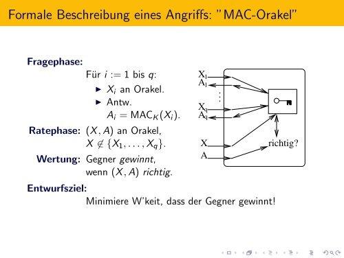 Hashfunktionen und MACs - Beuth Hochschule für Technik Berlin