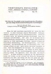 Vertebrata Hungarica 5/1-2. (Budapest, 1963)