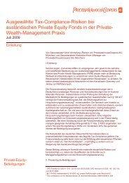 Ausgewählte Tax-Compliance-Risiken bei ... - PwCPlus