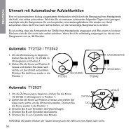 Uhrwerk mit Automatischer Aufziehfunktion Automatic TY2723 ...