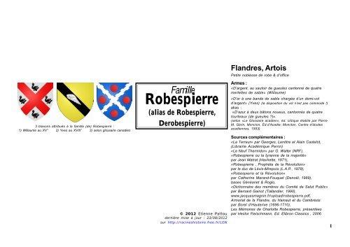 Robespierre Racines Histoire Free