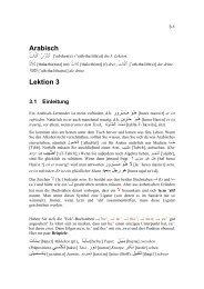 Arabisch Lektion 3 - Reocities