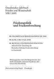 Friedensbildung - repOSitorium - Universität Osnabrück