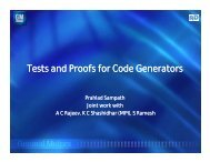 Tests and Proofs for Code Generators - Microsoft Research