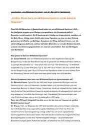 """""""Größtes Risiko beim von-Willebrand-Syndrom ist ... - Rhein-Zeitung"""