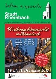 Dezember 2011 - Rheinbach