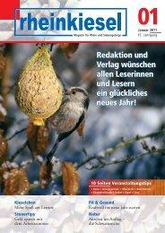 Redaktion und Verlag wünschen allen Les - Rheinkiesel
