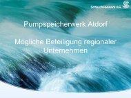 Pumpspeicherwerk Atdorf Mögliche Beteiligung regionaler ...