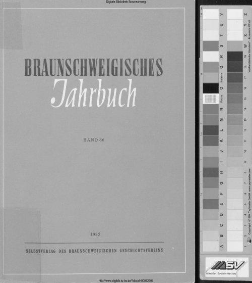 Braunschweigisches Jahrbuch 66 1985 Digitale Bibliothek