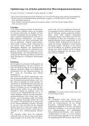 Optimierung von zirkular polarisierten Microstripantennenelmenten