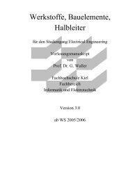 Werkstoffe, Bauelemente, Halbleiter - Fachbereich Informatik und ...