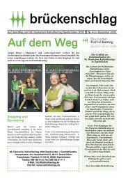 brückenschlag - Ausgabe 4, Dezember 2005 (PDF-Datei, 320