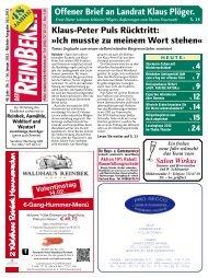 Offener Brief an Landrat Klaus Plöger. - Der Reinbeker