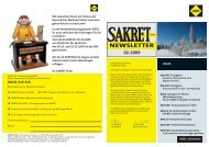 NEWSLETTER - Sakretgmbh.de
