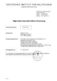 DEUTSCHES INSTITUT FÜR BAUTECHNIK - SAKRET GmbH