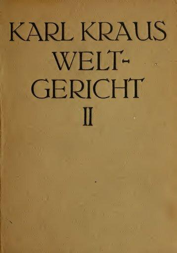 KARL KRAUS GERICHT