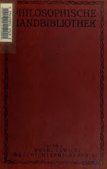 Philosophische Handbibliothek