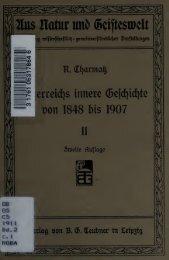Österreichs innere Geschichte von 1848 bis 1907 - University of ...