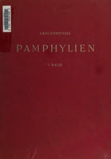 Städte Pamphyliens und Pisidiens. Unter Mitwirkung von G ...