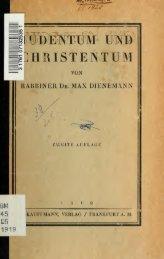 Judentum und Christentum - University of Toronto Libraries