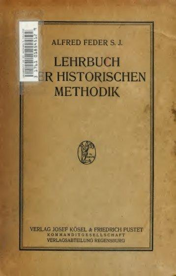 Lehrbuch der historischen Methodik