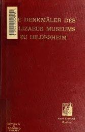 Die Denkmäler des Pelizaeus-Museums zu Hildesheim