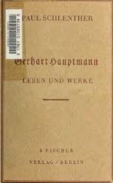 Gerhart Hauptmann : Leben und Werke