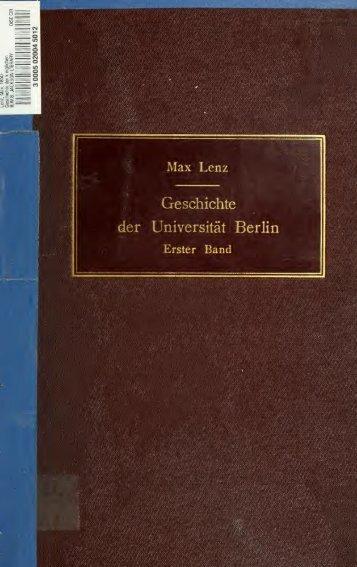 Geschichte der königlichen Friedrich-Wilhelms-Universität zu Berlin