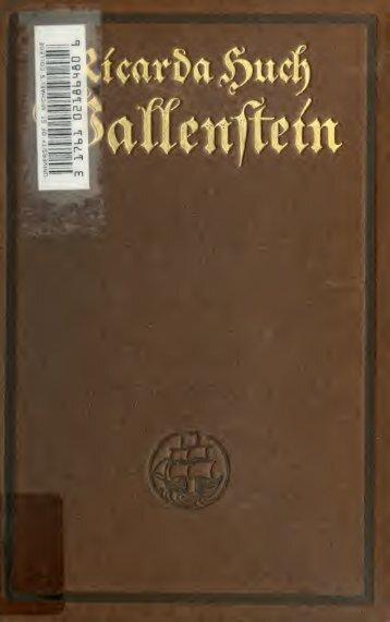 Wallenstein : eine Charakterstudie