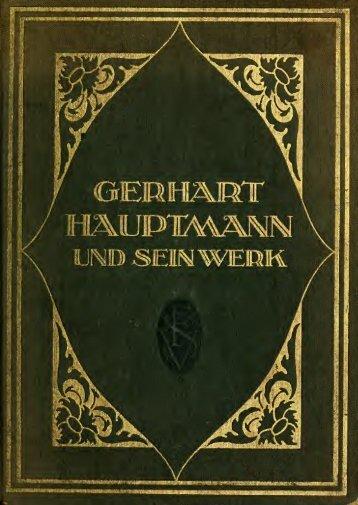 Gerhart Hauptmann und sein Werk