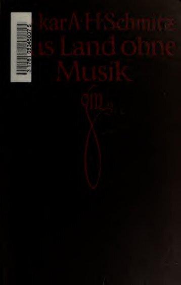 Das Land ohne Musik : englische Gesellschaftsprobleme