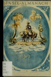 Insel-Almanach auf das Jahr .. - University of Toronto Libraries